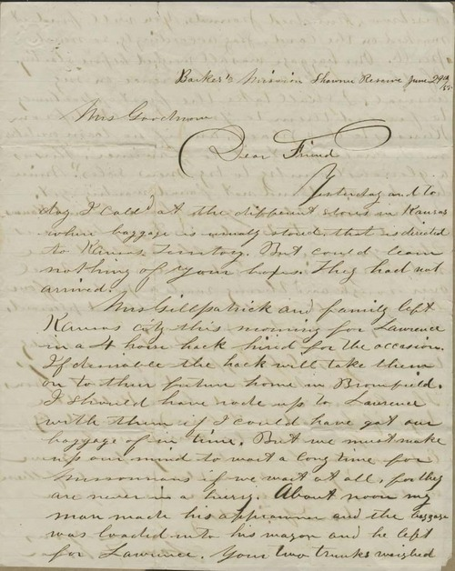 Samuel Tappan to Ellen Douglas Denison Goodnow - Page