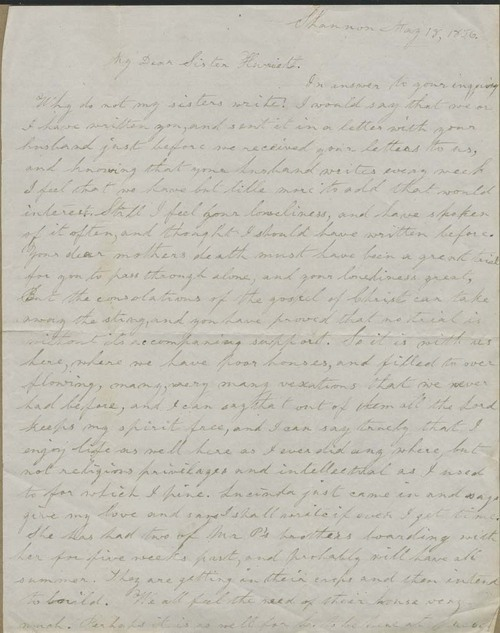 Ellen Douglas Denison Goodnow to Harriet Goodnow - Page