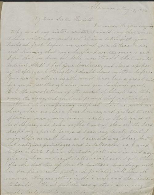 Ellen Douglas Denison Goodnow to Harriet Goodnow - Page