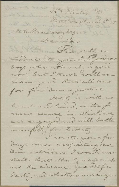 Thomas H. Webb to Samuel Clarke Pomeroy - Page