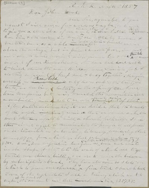 Issac T. Goodnow to John Wood - Page