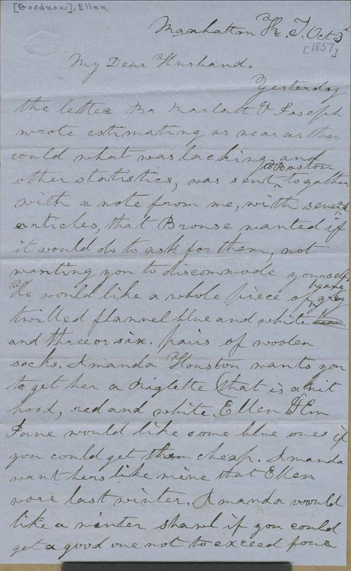 Ellen Douglas Denison Goodnow to Isaac Tichenor Goodnow - Page