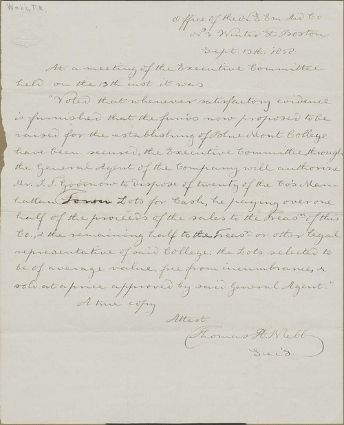Resolution of the New England Emigrant Aid Company - Page