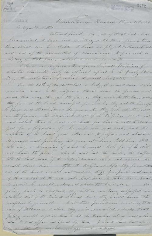 Richard Mendenhall to Augustus Wattles - Page