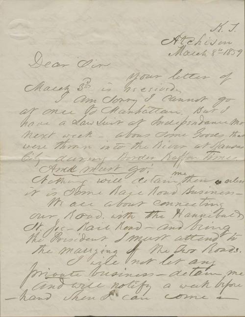 Samuel Clarke Pomeroy to Isaac Tichenor Goodnow - Page
