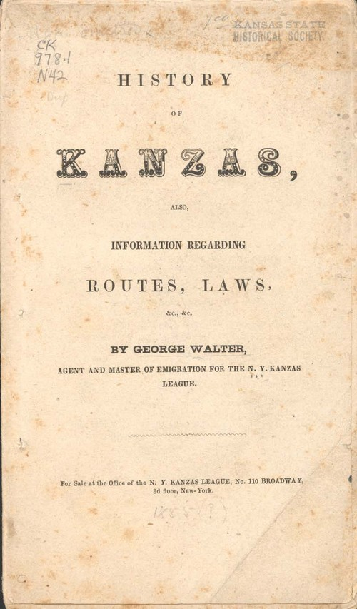 George Walter, History of Kanzas - Page