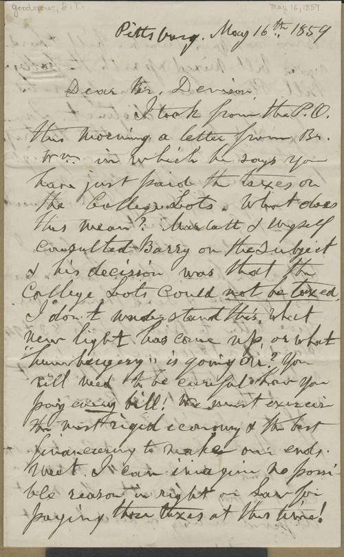 Isaac Tichenor Goodnow to Joseph Denison - Page