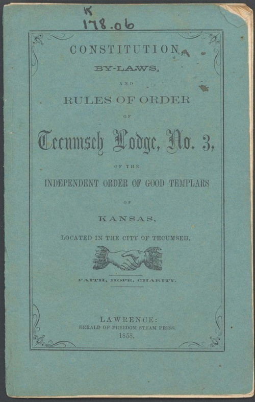 Independent Order of Good Templars of Kansas, Constitution, By-Laws, and Rules - Page