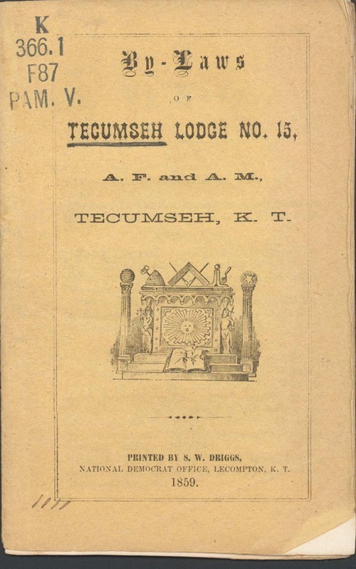 Freemasons, By-Laws of Tecumseh Lodge No. 15 - Page