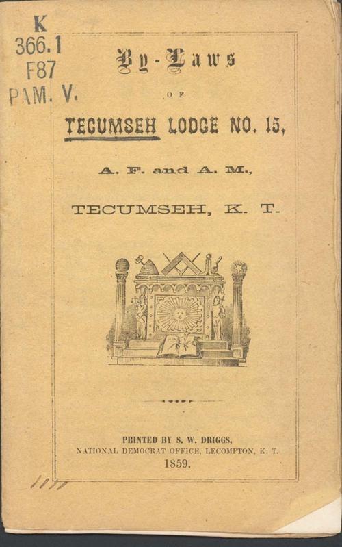 Freemasons, By-Laws of Tecumseh Lodge No. 15 - Page