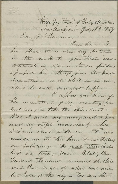 William H Goode to Joseph Denison - Page
