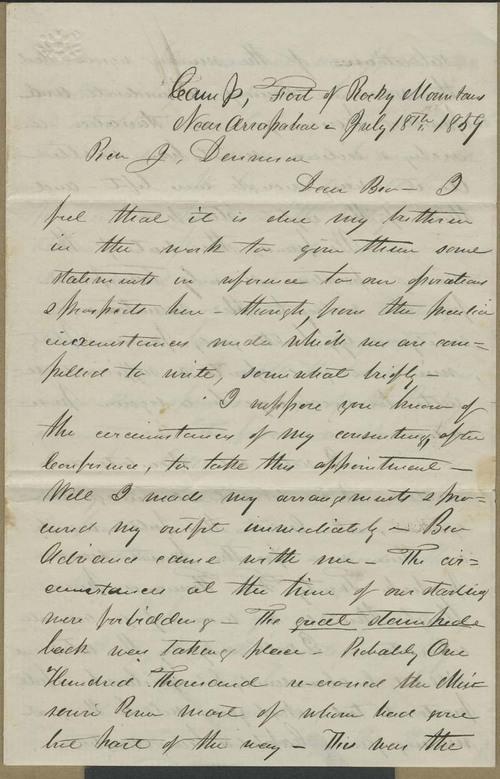 William H Goode to Joseph Denison - Page