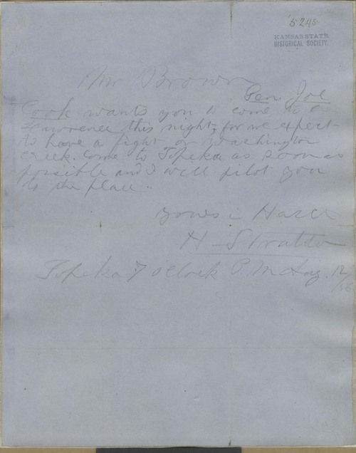 Harris Stratton to John Brown - Page