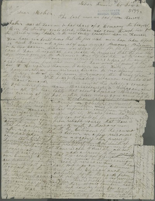 Owen Brown to Mary Brown - Page