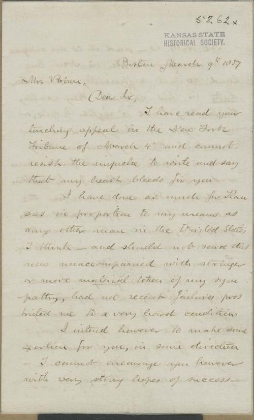 E. Brigham to John Brown - Page
