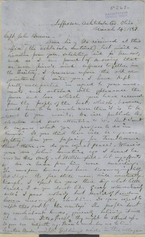 James H. Greene to  John Brown - Page