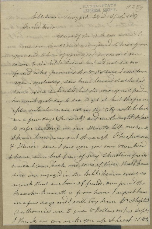 Joseph Bryant to John Brown - Page