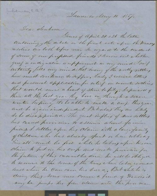 Edmund Burke Whitman? to Franklin B. Sanborn - Page