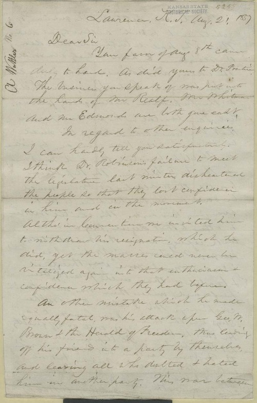Augustus Wattles to John Brown? - Page