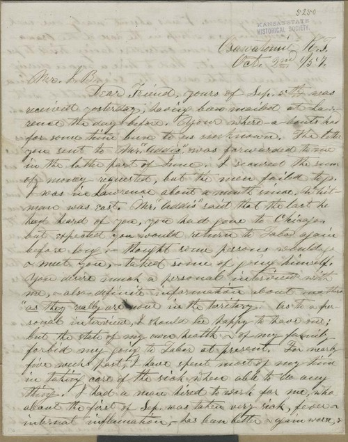 Samuel Lyle Adair to John Brown - Page