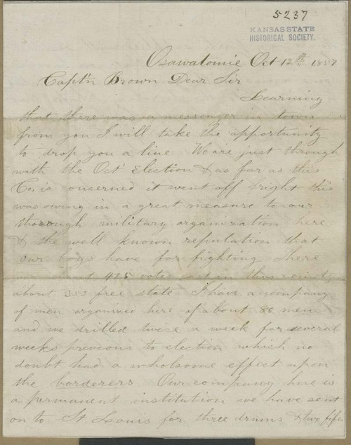 Henry H. Williams to John Brown - Page