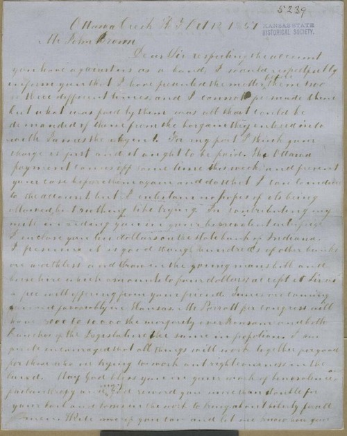 John Tecumseh Jones to John Brown - Page