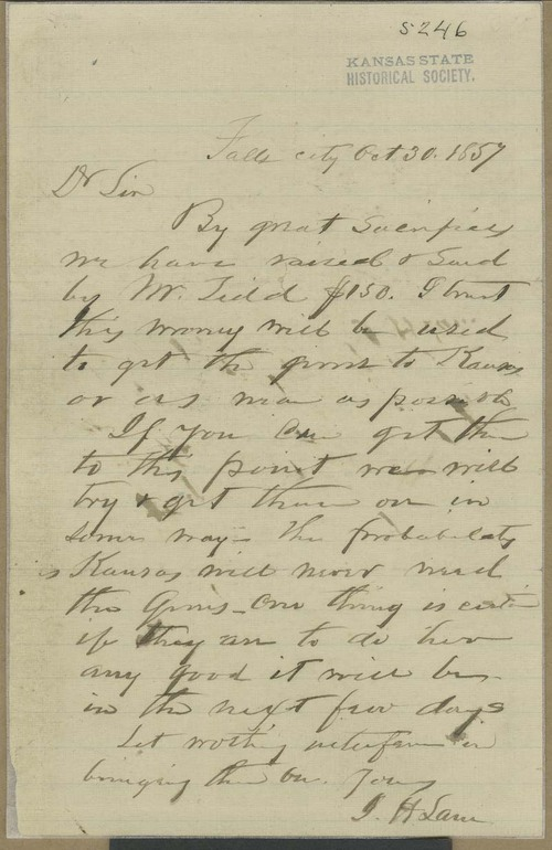 James Henry Lane to John Brown - Page