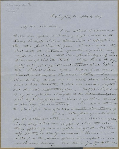 Martin Franklin Conway to Franklin B. Sanborn - Page