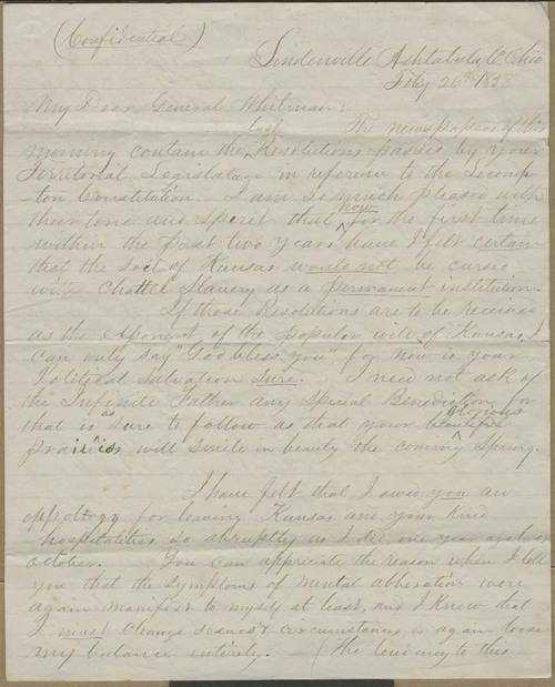 John Brown, Jr. to Edmund Burke Whitman - Page