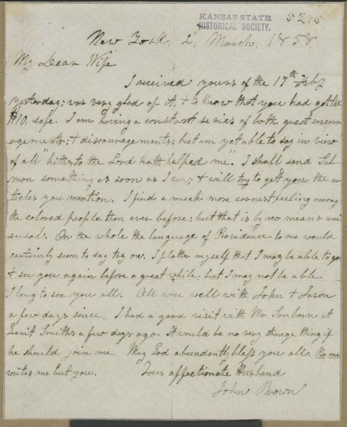 John Brown to Mary Brown - Page