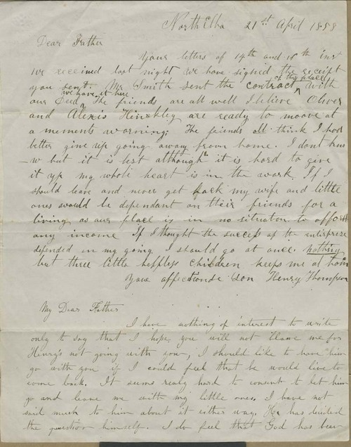Henry Thompson and Ruth Brown Thompson to John Brown - Page