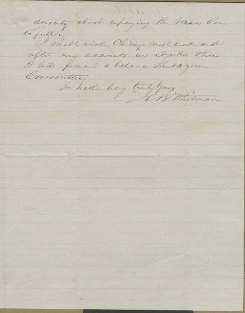 Edmund Burke Whitman to George Luther Stearns - Page