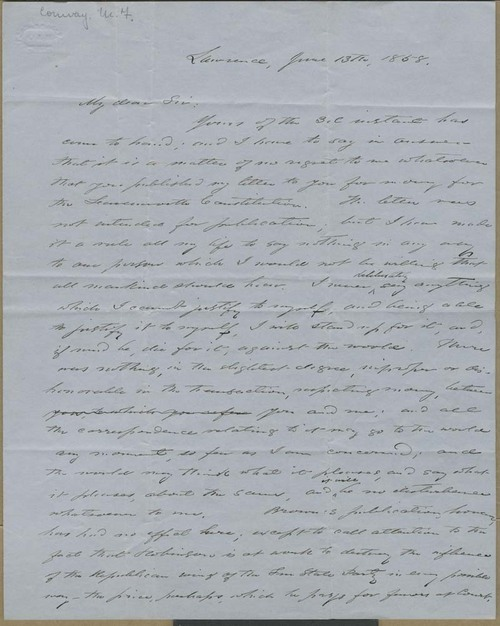 Martin Franklin Conway to George Luther Stearns - Page