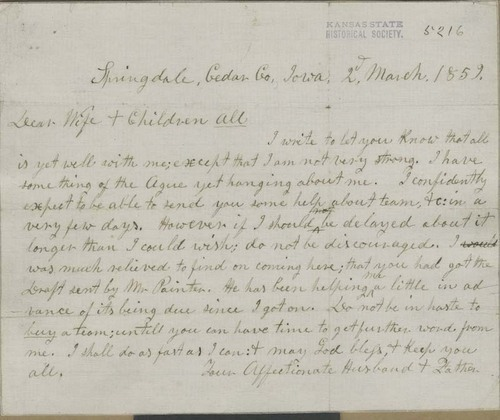 John Brown to Mary Brown & Children All - Page
