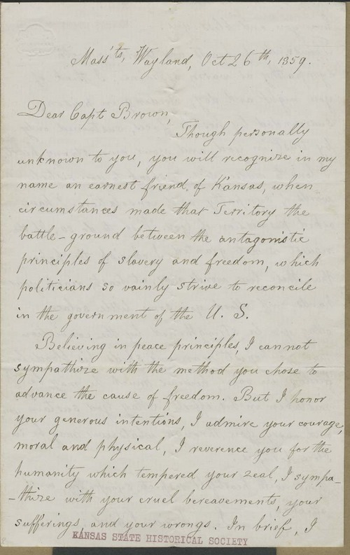 Lydia Maria Francis Child to John Brown - Page