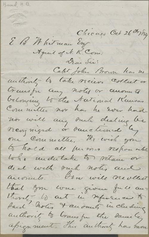 Harvey Bostwick Hurd to Edmund Burke Whitman - Page