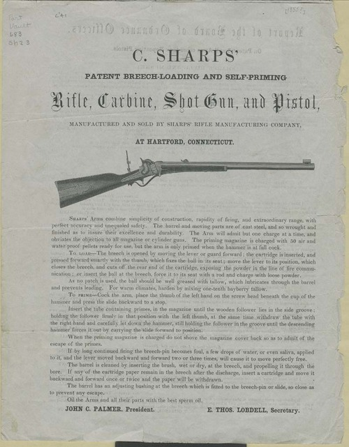 Sharps' Rifle Manufacturing Company, Advertisement - Page
