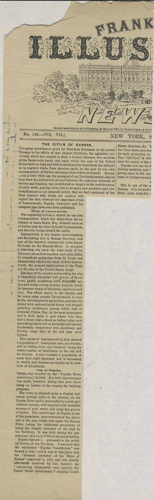 Frank Leslie's Illustrated newspaper clipping - Page