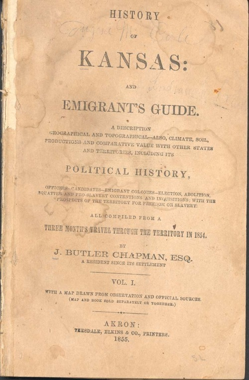 History of Kansas and emigrant's guide - Page