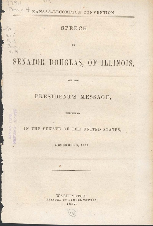 Stephen Arnold Douglas, speech on the President's Message - Page