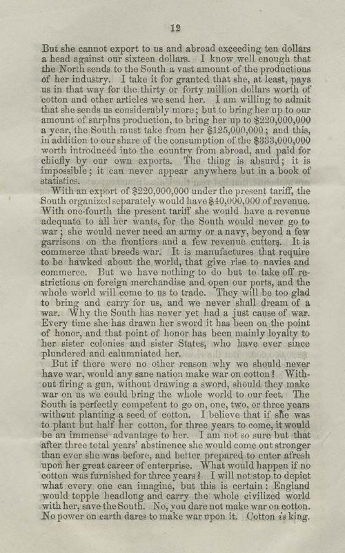 James Henry Hammond of South Carolina, speech - Page