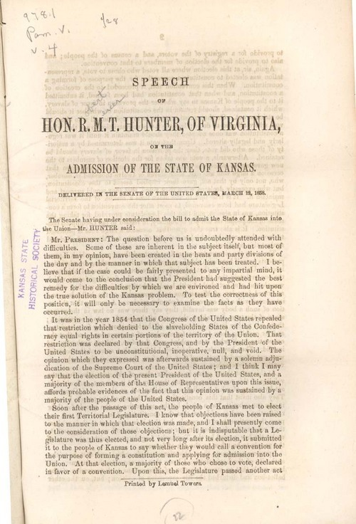 Robert Mercer Taliaferro Hunter, of Virginia, speech - Page