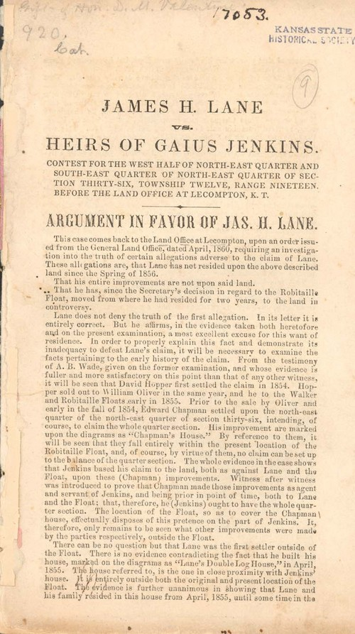 James Henry Lane vs. heirs of Gauis Jenkins - Page