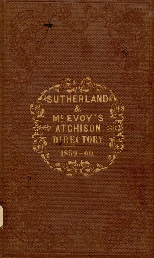 Atchison city directory and business mirror for 1859-60 - Page