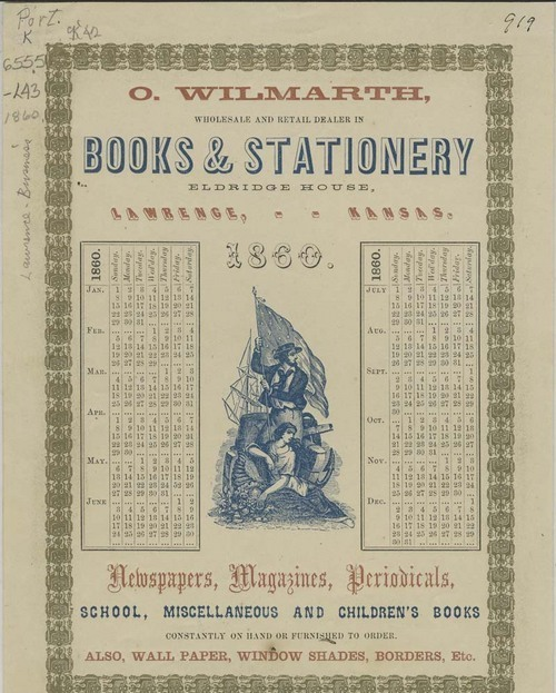 O. Wilmarth, Advertisement calendar - Page
