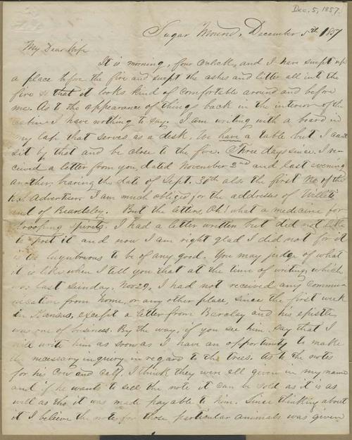 Joseph Harrington Trego to Alice Trego - Page