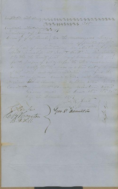 Fort Scott Precinct, Bourbon County, Kansas Territory, Election Returns and Ballots - Page