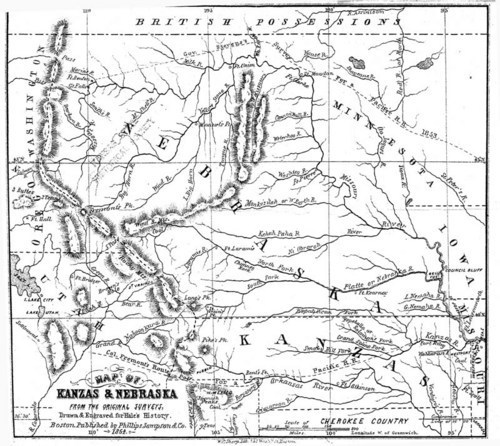Image and link to Kanzas and Nebraska by E. E. Hale, 1854