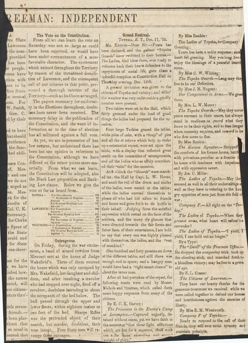 The Vote on the Topeka Constitution - Page