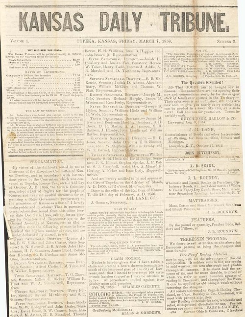 Proclamation, Results of the 1855 Free State Election - Page